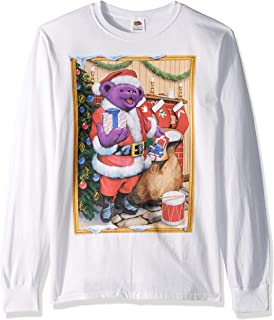 Liquid Blue Grateful Dead Dancing Santa Bear Graphic Long Sleeve Tee