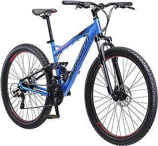 Schwinn Protocol 2.7 Mens and Womens Mountain Bike, 27.5-Inch Wheels, 21-Speed Drivetrain, Lightweight Aluminum Frame, Ful...