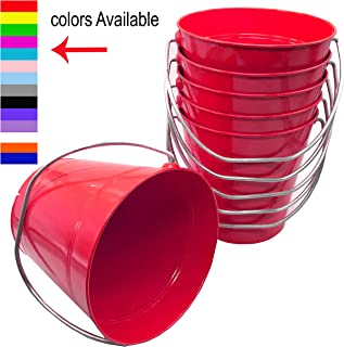 Italia 6-Pack Metal Bucket 1.5 Quart Color Red Size 5.6 X 6