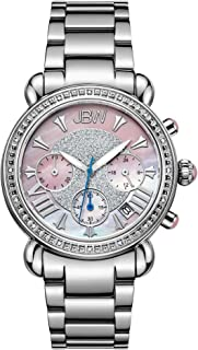 JBW Luxury Women's Victory 16 Diamonds Mother of Pearl Chronograph Watch - JB-6210-F