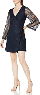 cupcakes and cashmere womens lesley lace wrap dress Dress