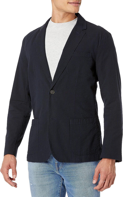 Amazon Brand - Goodthreads Men's Standard-fit Seersucker Blazer