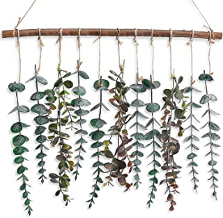 CEWOR Artificial Eucalyptus Hanging Wall Decor, Faux Eucalyptus Vines and Greenery, Wall Hanging Fake Plants with Boho for...