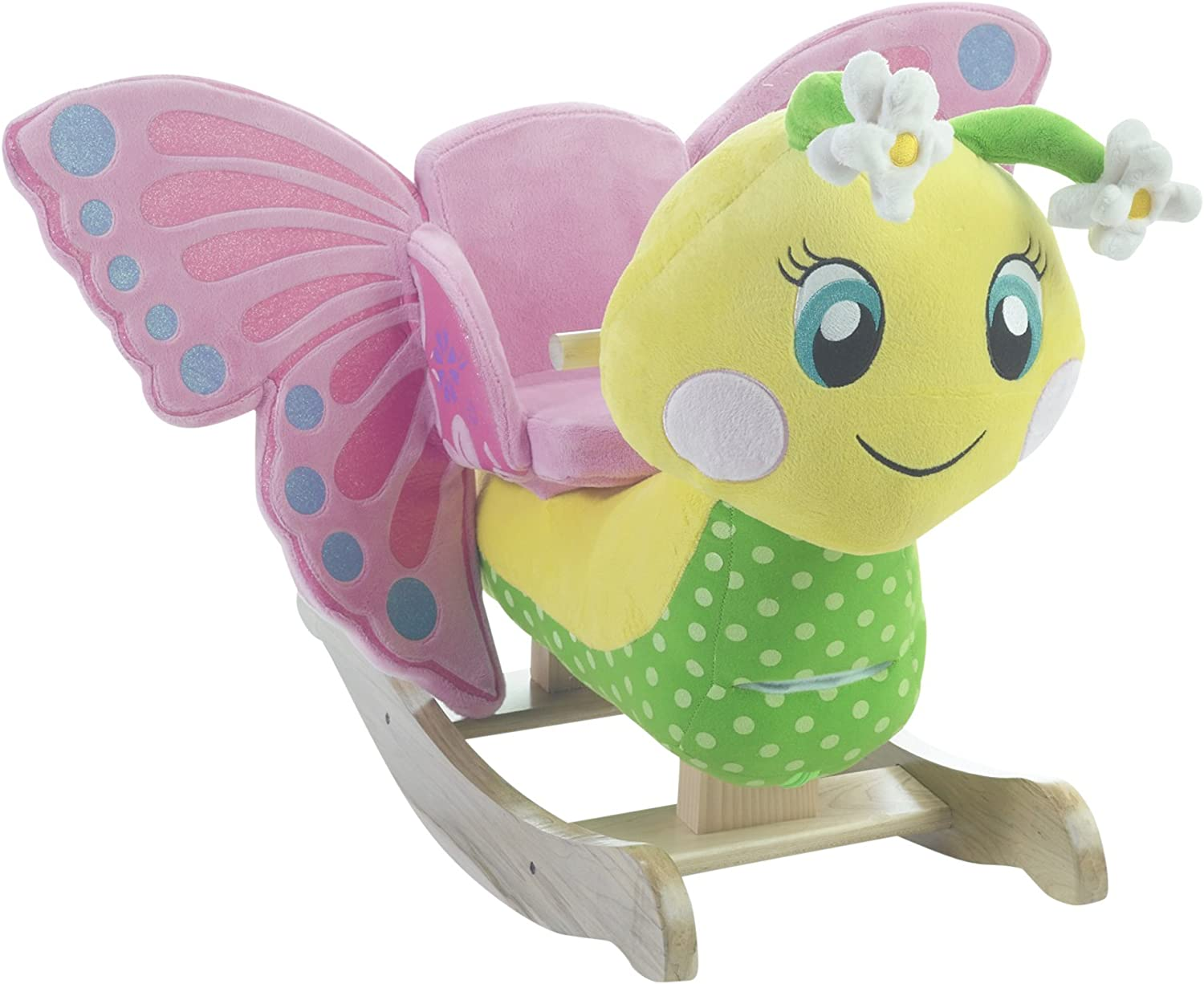 Rockabye Flutter Butterfly Rocker Ride On