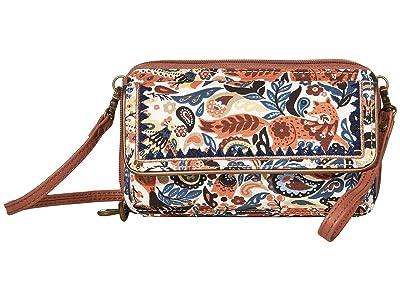 Sakroots Luna Smartphone Crossbody (Clay Enchanted Forest) Cross Body Handbags