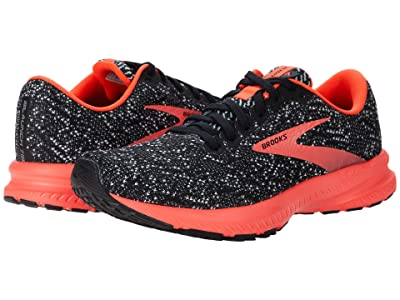 Brooks Launch 7 (Black/Fiery Coral) Women