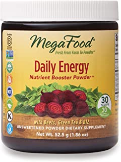 MegaFood, Daily Energy Booster Powder, Supports Energy and Stamina, Drink Mix Supplement Vegetarian, 1.86 oz. (30 Servings)