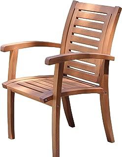 Outdoor Interiors 21090 Luxe Eucalyptus Arm Chair