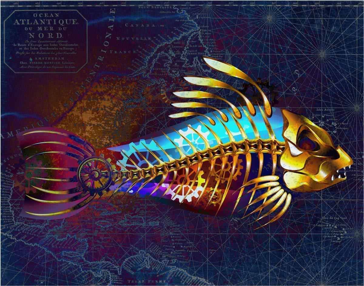 Steam Punk Fish Beautiful Fine Art Ranking TOP11 11x14 Print Unframed - Print- overseas