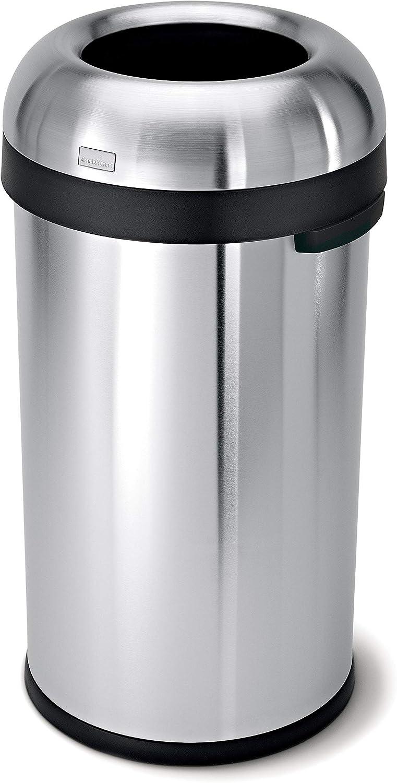 discount simplehuman 60 Max 72% OFF Liter 16 Gallon Bullet Open Can Comm Trash Top