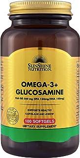 SUNSHINE NUTRITION Omega 3+ Glucosamine 100 Softgels