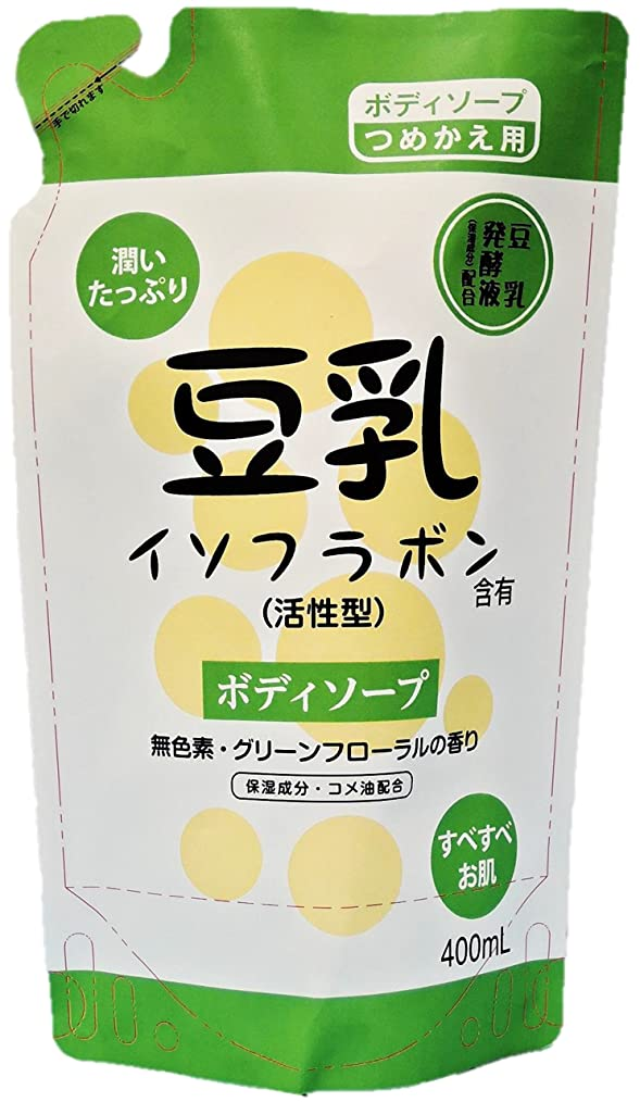 エイズフォローエアコン豆乳ボディソープ 詰替え 400ml