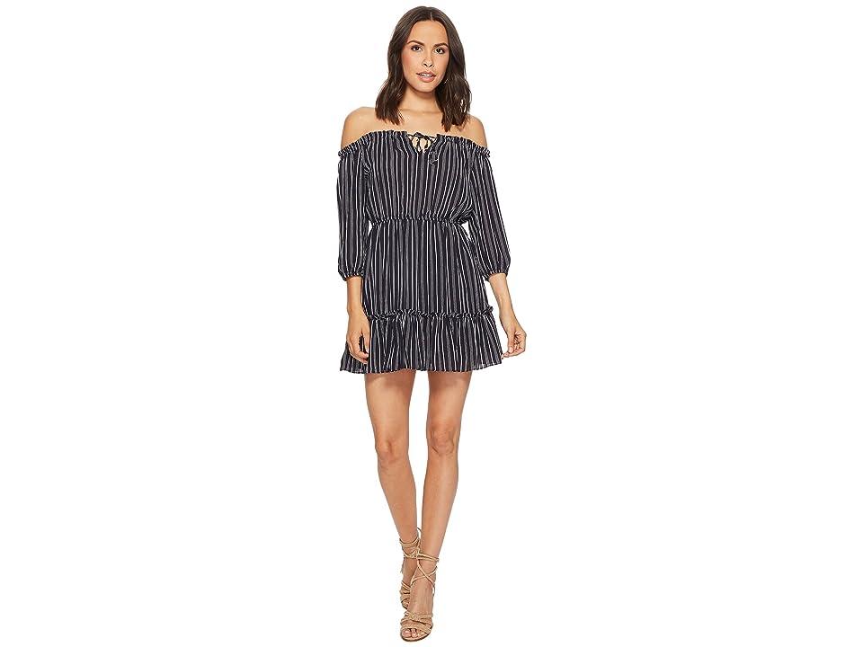BB Dakota Mckenna Vertical Striped Dress (Navy) Women