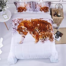 #2 ANIMAL BROWN LEOPARD CHEETAH QUILT SET BED COVER BEDDING QUILTED BEDSPREAD