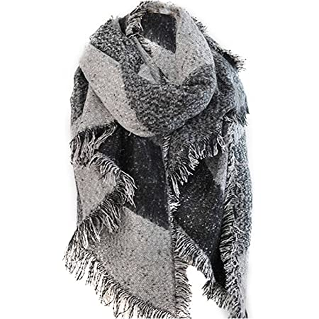 Vincenza ® Womens Large Oversized Pashmina Wrap Poncho Thick Style Scarf Patchwork Cape Shawl exclusive brand only sold by Home 4 Fashion