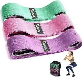 RoxTop Yoga Cintur/ón de l/átex Banda el/ástica tensi/ón Resistencia de la Yoga de Entrenamiento Rosa