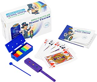 Learn & Climb Spectacular Magic Tricks for Kids Ages 7,8,9,10-Set of 3 Unique Props Includes Rainbow Bricks Trick, Traffic Light Trick, Magical Cards & Instruction Manual