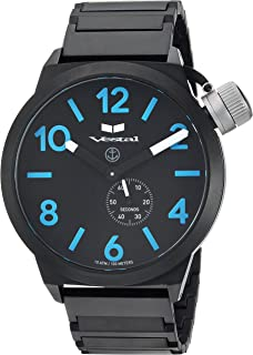 Vestal Canteen Metal' Quartz Stainless Steel Casual Watch, Color Black (Model: CNT453M08.1BKM)