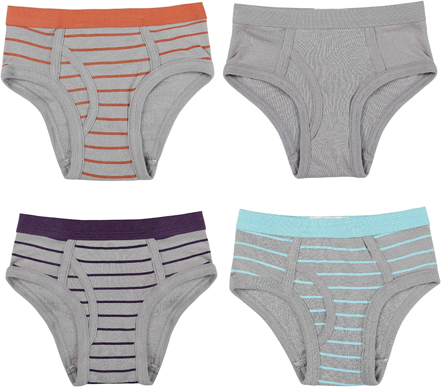 Buyless Fashion Boys Brief in Assorted Colors Soft Cotton Underwear 4 Pack