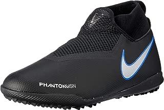 Nike Australia Boys Jr Phantom Vision Academy DF TF Fashion Shoes, Black/Metallic Silver-Racer Blue