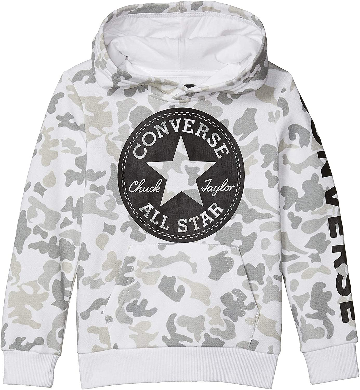 Converse Kids Boy's Camouflage Chuck Patch Fleece Pullover Hoodie (Little Kids)