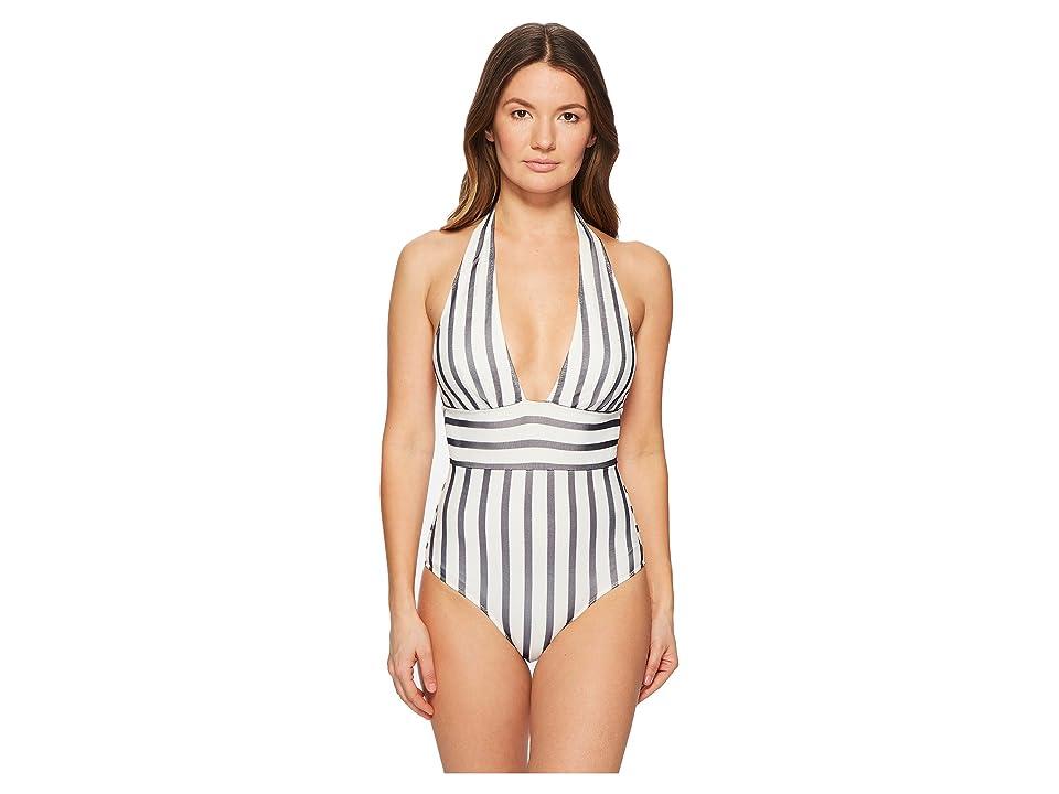 FUZZI One-Piece Stripe Swimsuit (Cocco) Women