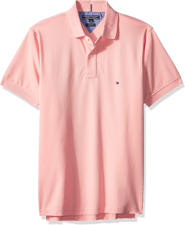 Tommy Hilfiger de los Hombres Poloshirt Regular, Rosado