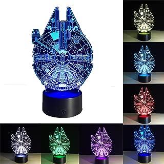 3D Lámpara de ilusión Escritorio de Luz de Noche con Efecto Optico 3D 7 cambiar el color Toque la Lampara para El Cumpleaños de La Boda Navidad San Regalos