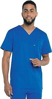 Landau Men's Durable Medical Shirt 1-Pocket V-Neck Stretch Scrub Top
