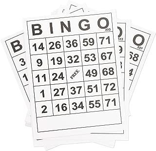 Juvale 60-Pack Bulk Large Print Paper Bingo Calling Cards, 8 x 11 Inches