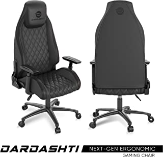 Atlantic Dardashti Gaming Chair - Commercial Grade, BIFMA X5.1 Tested, Next-Gen Ergonomic, Race Car Inspired Black with Black Accent, PN78050356