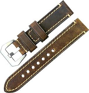 【TON CHARME】トンチャーメー 腕時計用ベルト 本革 ストラップ 20mm/22mm/24mm/26mm (ブラウン20mm)