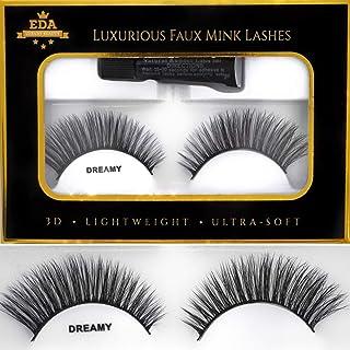 EDA LUXURY BEAUTY DREAMY 3D Faux Mink False Lashes | Super Soft Natural Look | Full Volume | Extra Long Length | Eyelash E...