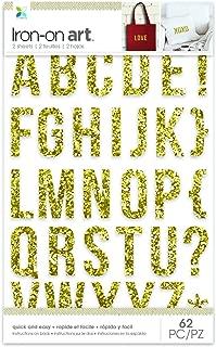 Momenta Chunky Glitter Alphabet Iron on, Gold