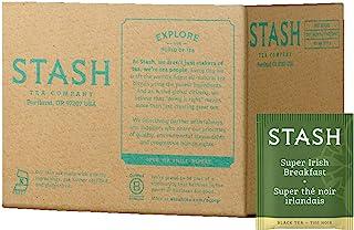 Stash Tea Super Irish Breakfast Black Tea 100 Count Box of Tea Bags in Foil (packaging may vary) Individual Black Tea Bags...