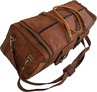 Large 30 inch duffel bags for men holdall leather travel bag overnight gym sports weekend bag