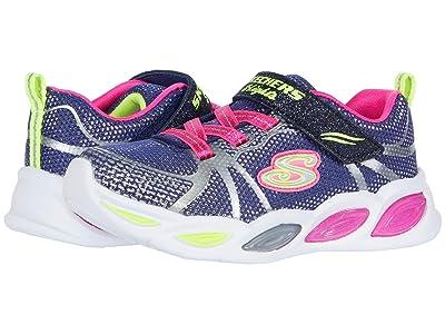 SKECHERS KIDS Sport Lighted Shimmer Beams Sporty Glow 302042N (Toddler) (Navy/Multi) Girl