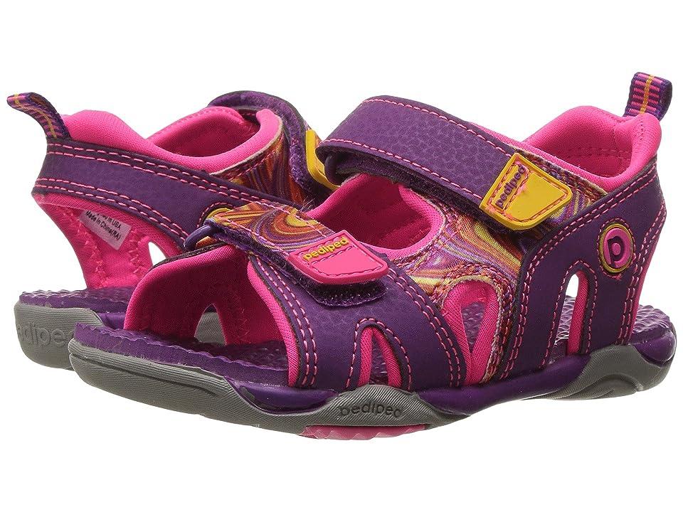 pediped Navigator Flex (Toddler/Little Kid) (Purple Swirl) Girls Shoes