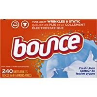 240-Count Bounce Fresh Linen Scented Fabric Softener Dryer Sheets