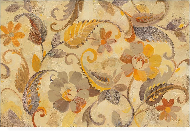 Trademark Fine Art Autumn Garden Beige by Albena Hristova, 12x19