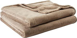 "Mainstays 102"" x 90"" Plush Blanket, King, Brownstone"