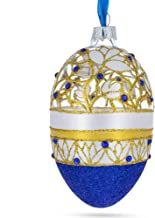 BestPysanky Golden Wines Jeweled Egg Glass Ornament