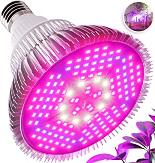 PCtech 100W LED Grow Light Bulb - Full Spectrum Lamp for Indoor Plants, Garden, Flowers, Vegetables, Greenhouse & Hydroponic Growing   E27 Base 150 LEDs (AC85-265V)