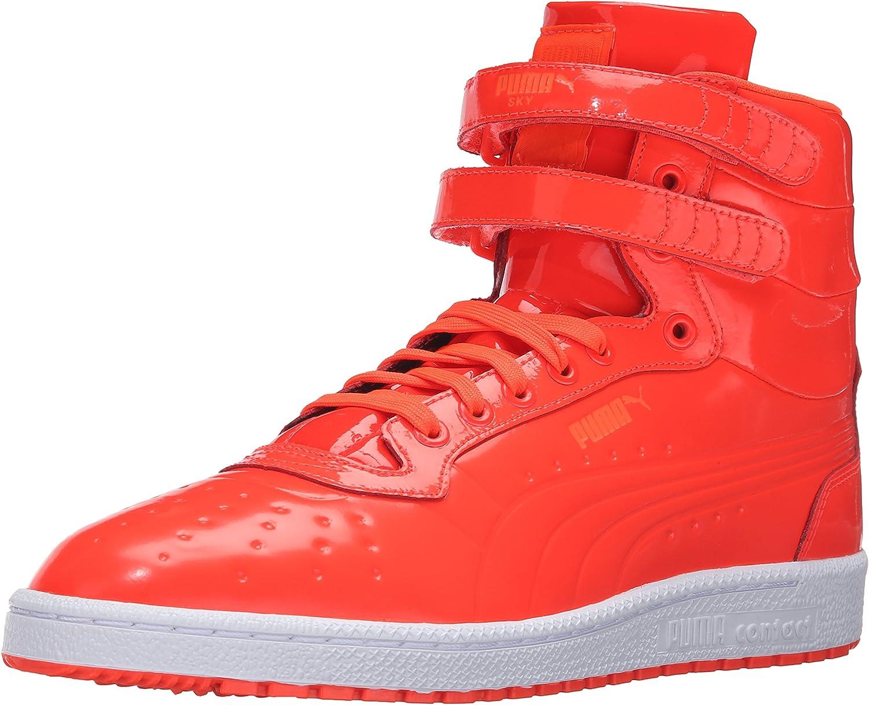 PUMA Mens Sky Ii Hi Patent Emboss Fashion Sneaker