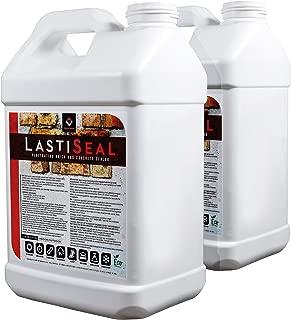 LastiSeal Brick & Concrete Sealer SATIN (5-gal) - Water-Based Penetrating Sealer for Brick, Concrete, Stone, Porous Masonry - 15-Year Waterproofing Warranty, Low Gloss Sheen