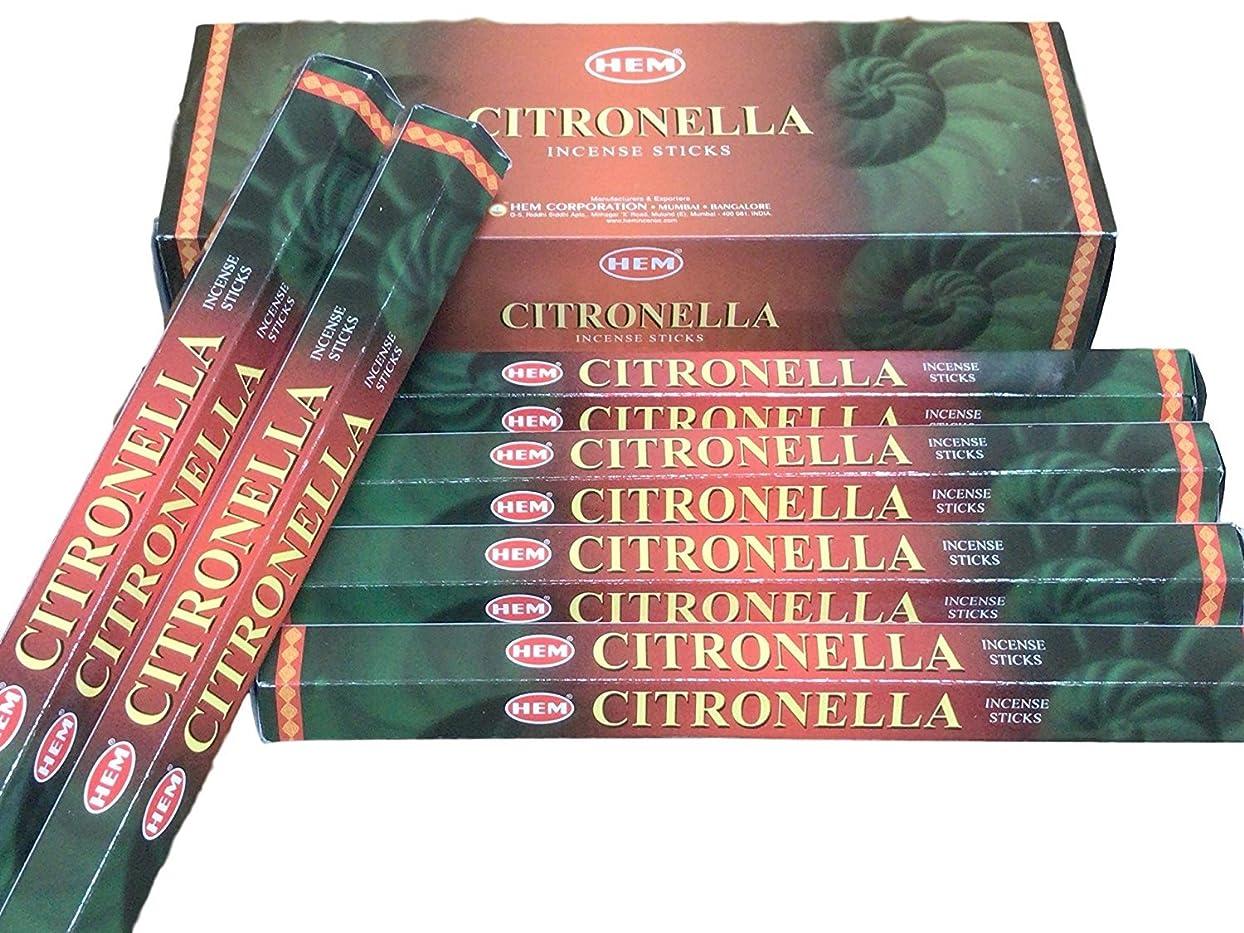 伴うグラス証拠HEM ヘム シトロネラ CITRONELLA ステック お香 6本 セット
