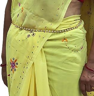 Shop4All Waist Belt Saree Tagdi Kamarband for Women&Ladies Fancy Ethnic Gold Plated Hip Belt Kamar Band(Gold)