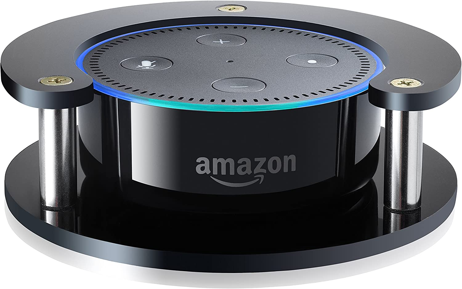 1 Echo Dot Speaker Stand (Black) - Precision Fit Holder for Enhanced Stability, Predection and Audio Clarity - Lightweight Accessories for Home or Office