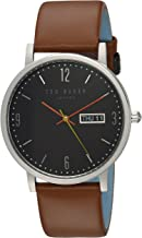 Ted Baker Men's 'Grant' Quartz Stainless Steel and Leather Casual Watch