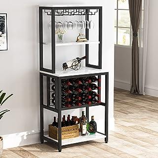 Tribesigns 4-Tier Wine Bakers Rack, Freestanding Wine...